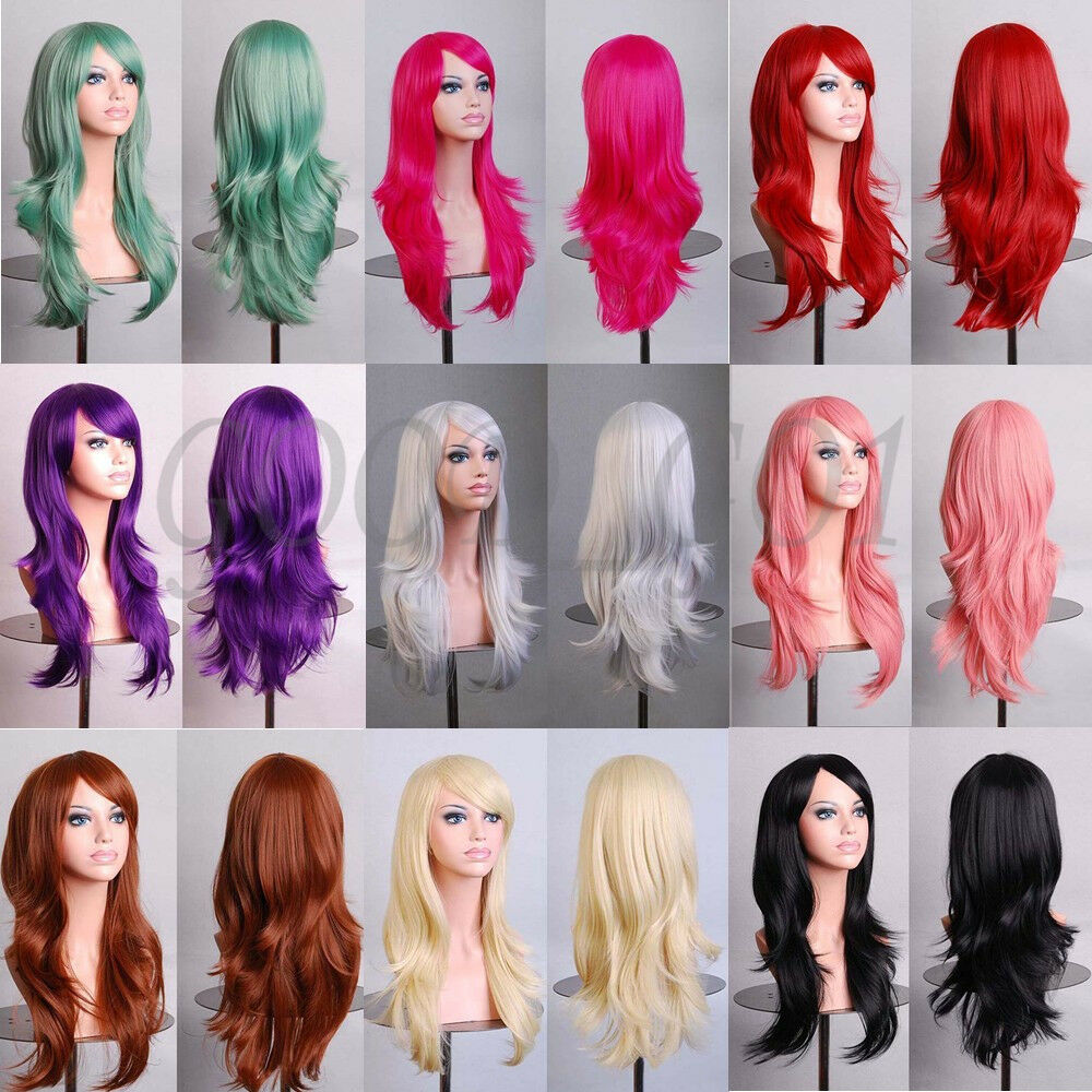 70cm Long Curly Fashion Cosplay Costume Party Hair Anime ...