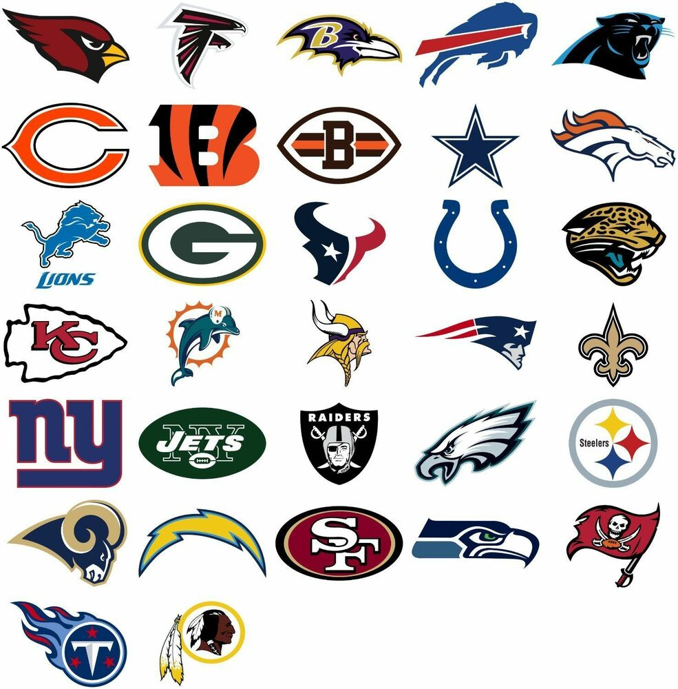 nfl logo stickers pick your team nfl licensed usa