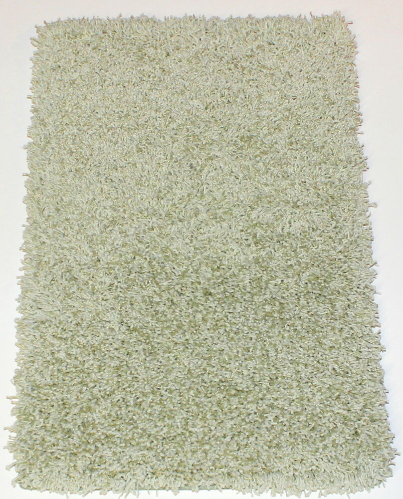 Showbiz green room super thick soft luxury shaggy area rug for Soft area rugs