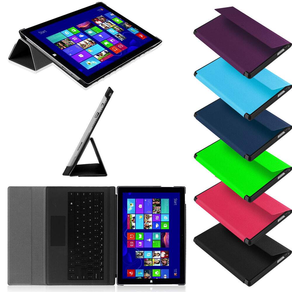 "Ultra Slim Stand Case With PC Back Cover for 12"" Microsoft ..."
