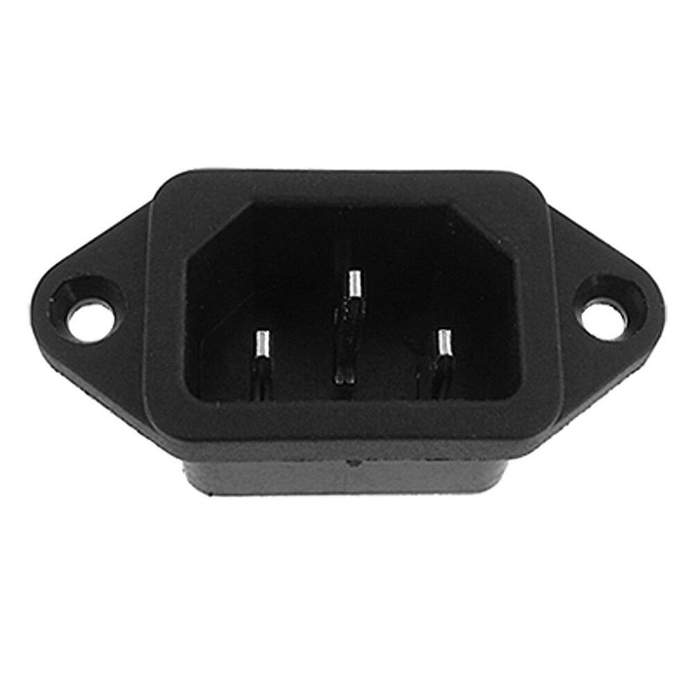 iec 320 c14 male plug 3 pins pcb panel power inlet socket. Black Bedroom Furniture Sets. Home Design Ideas