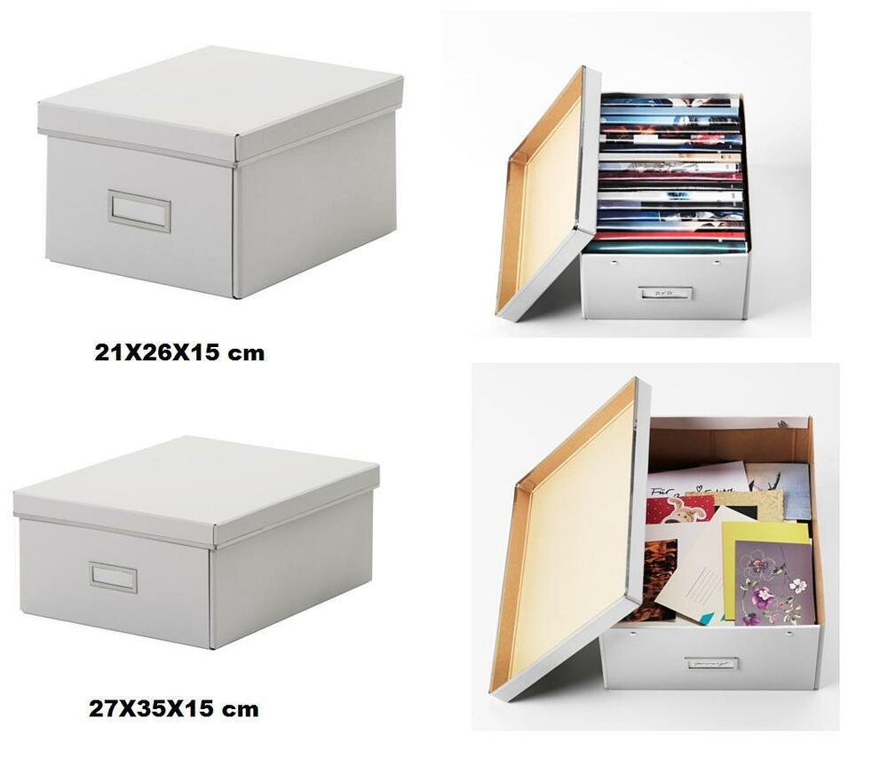 ikea smarassel white lided storage box ideal for small storage buy more save ebay. Black Bedroom Furniture Sets. Home Design Ideas