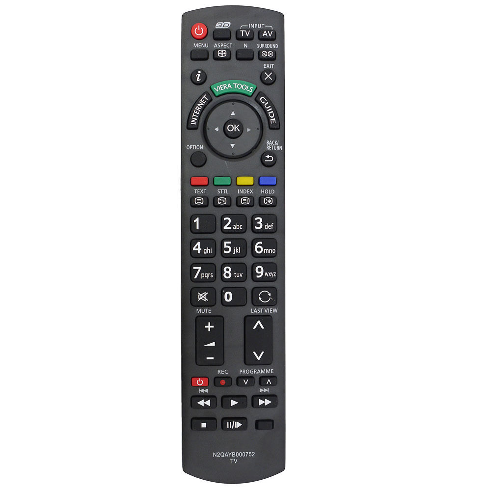 new remote control for panasonic 3d internet tv n2qayb000752 n2qayb000753 ebay. Black Bedroom Furniture Sets. Home Design Ideas