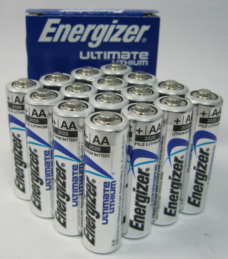 energizer l91 lithium aa photo battery 16 pack ebay. Black Bedroom Furniture Sets. Home Design Ideas