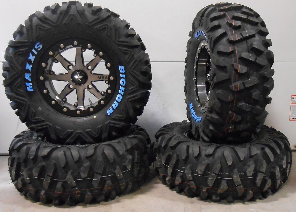 msa lok 14 utv wheels 30 bighorn tires polaris rzr 1000 xp ebay. Black Bedroom Furniture Sets. Home Design Ideas