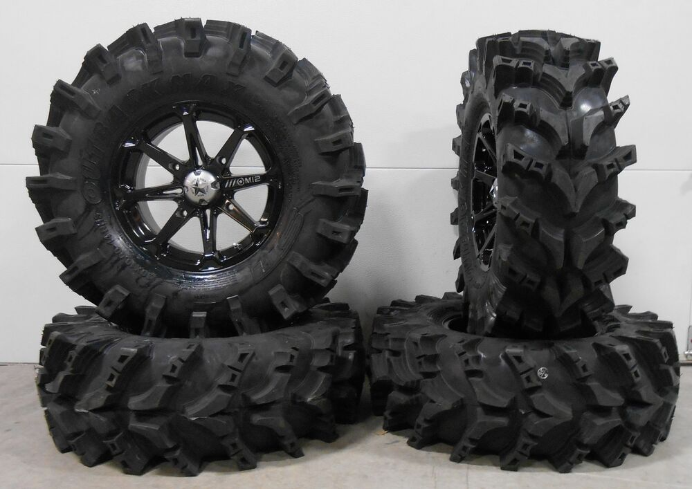 msa black diesel 14 utv wheels 30 outback max tires polaris rzr 1000 xp ebay. Black Bedroom Furniture Sets. Home Design Ideas
