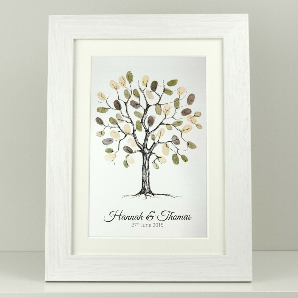 Wedding Guest Book Thumbprint Tree 185 250 Guests 22 X: Personalised Wedding Fingerprint Thumbprint Tree