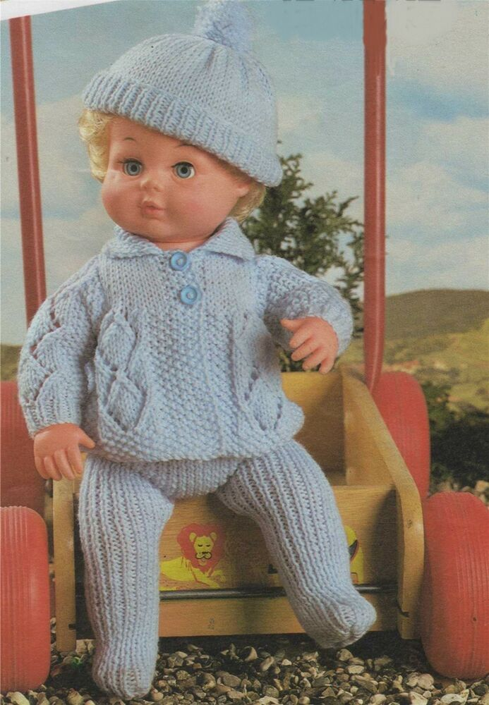 Free Knitting Patterns For Dolls Prams : Dolls Clothes Knitting Pattern : Baby Doll Pram Set : Tiny ...