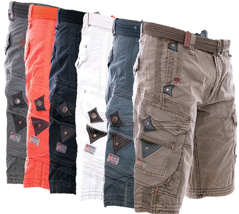 geographical norway herren cargo bermuda shorts kurze hose short knielang sommer ebay. Black Bedroom Furniture Sets. Home Design Ideas