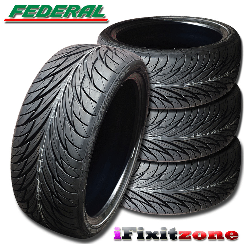 4 federal ss 595 tires 215 40r18 85w 240aaa ultra high. Black Bedroom Furniture Sets. Home Design Ideas