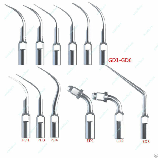 12pc Dentista Tips INSERTI PUNTE PER ABLATORE Scaler Satelec DTE