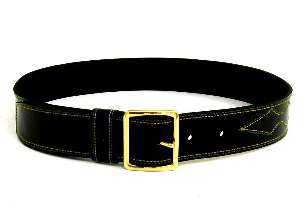 patent leather belts handmade solid brass buckle inch 4 5 cm wide ebay. Black Bedroom Furniture Sets. Home Design Ideas