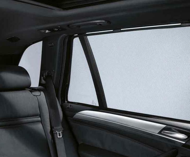 bmw genuine car rear door window sun screen blind shade set e70 x5 51460416674 ebay. Black Bedroom Furniture Sets. Home Design Ideas