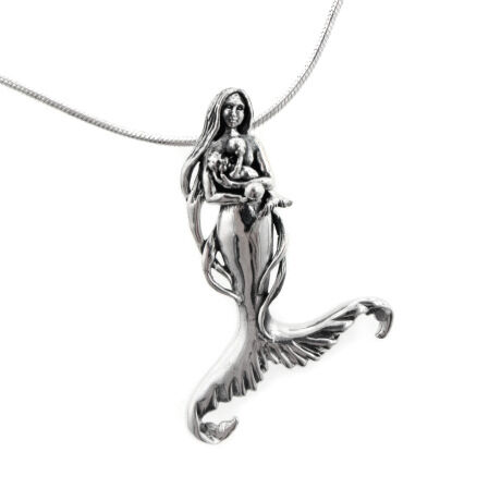 Seer S Child Mother Mermaid And Baby Sterling Silver
