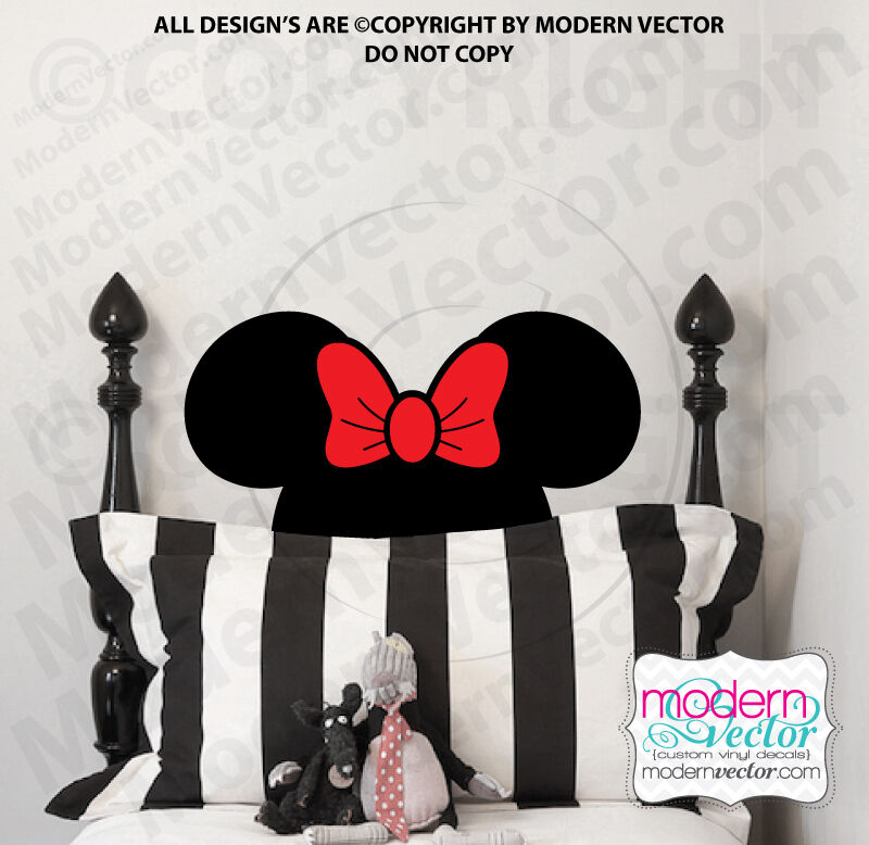 Minnie Mouse Head Vinyl Wall Decal Room Nursery Disney