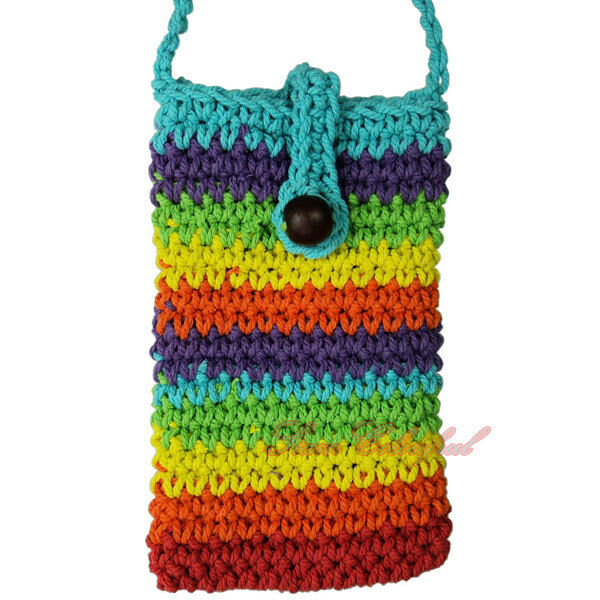 ... COLOR HANDMADE CROCHET KNIT MOBILE, CELL PHONE POUCH PURSE BAG eBay