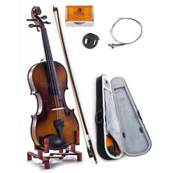 Kyпить Solid Maple Spruce Wood Fiddle Violin 4/4 Full Size w Case Bow Rosin String  на еВаy.соm