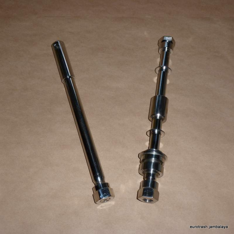 Norton commando front rear axle set stainless