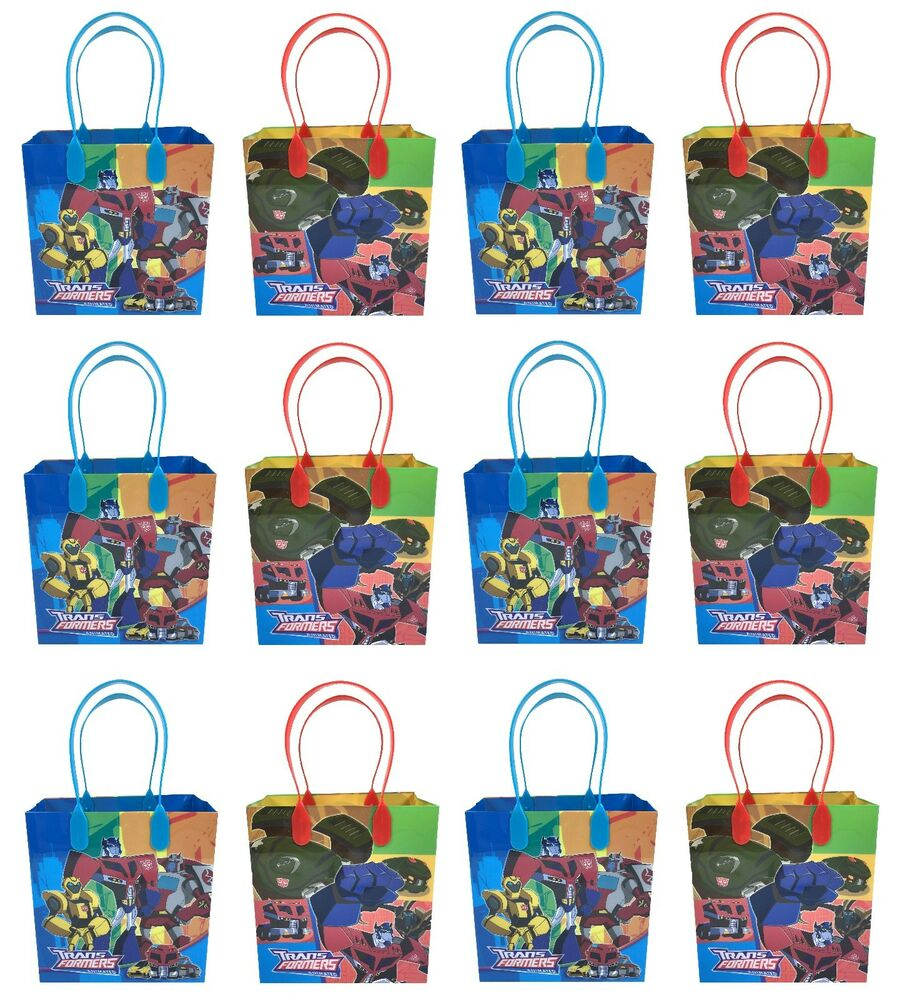 (36ct) Transformers Birthday Bags Gift Bags Goody Bags
