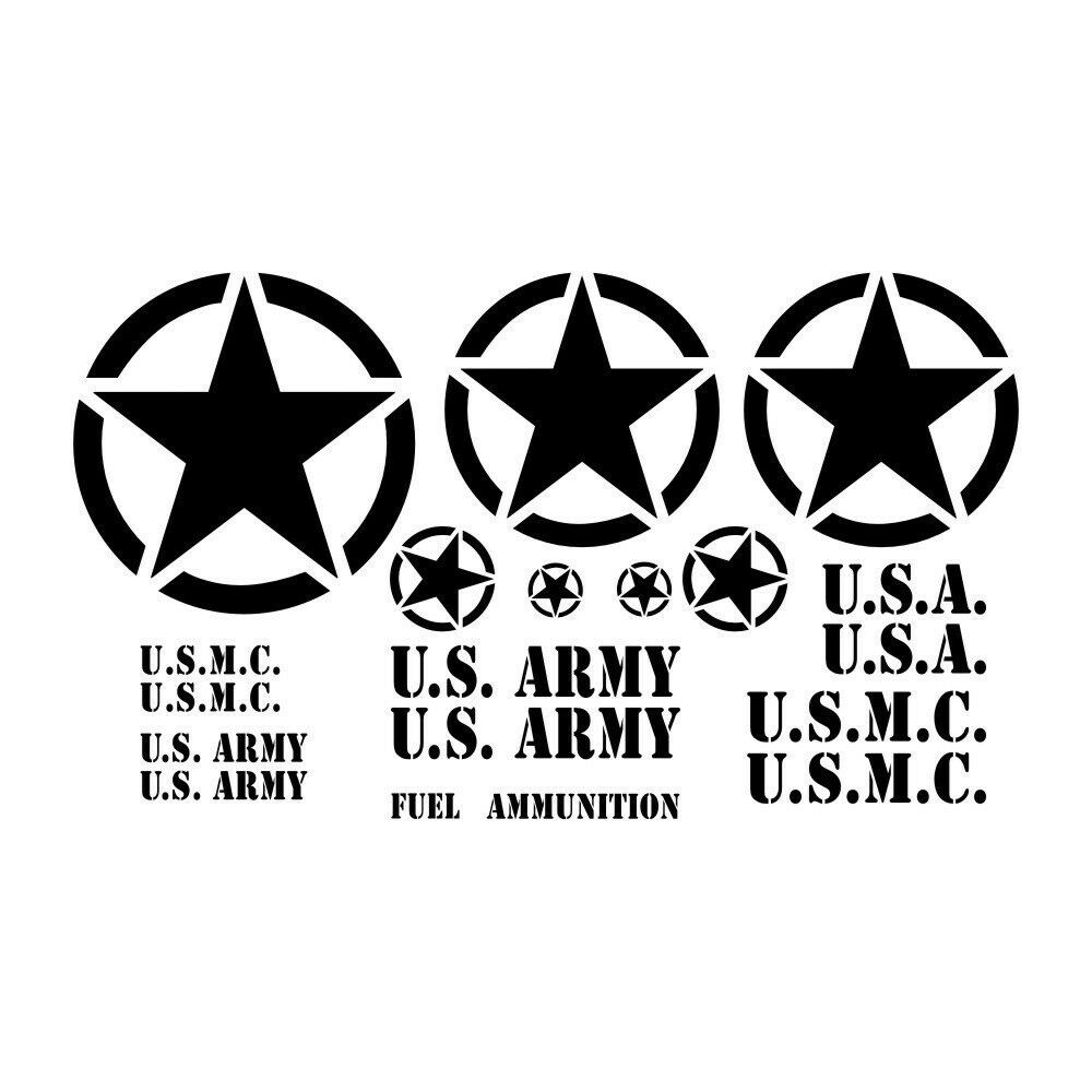 Military Jeep Restoration Decal Kit For U S Army Marine