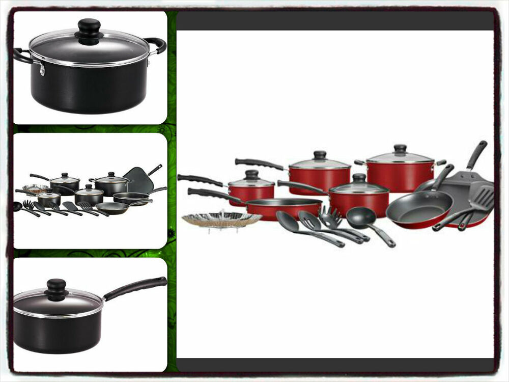 Cookware set kitchen sets 18 pieces non stick aluminum for Kitchen set aluminium royal