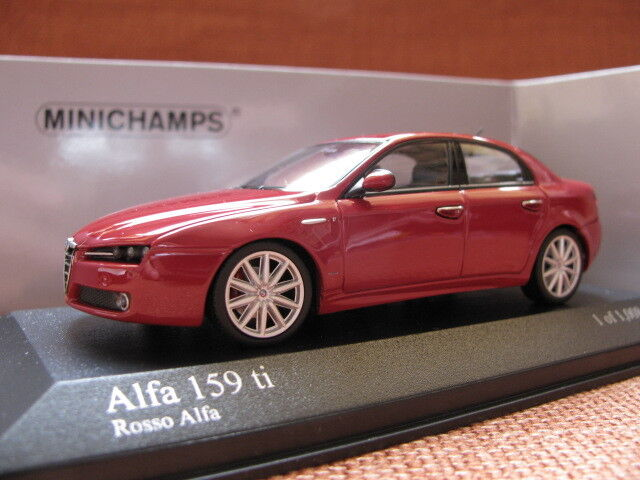 1 43 minichamps alfa romeo 159 silver alfa romeo 159 ti red 2pcs diecast ebay. Black Bedroom Furniture Sets. Home Design Ideas