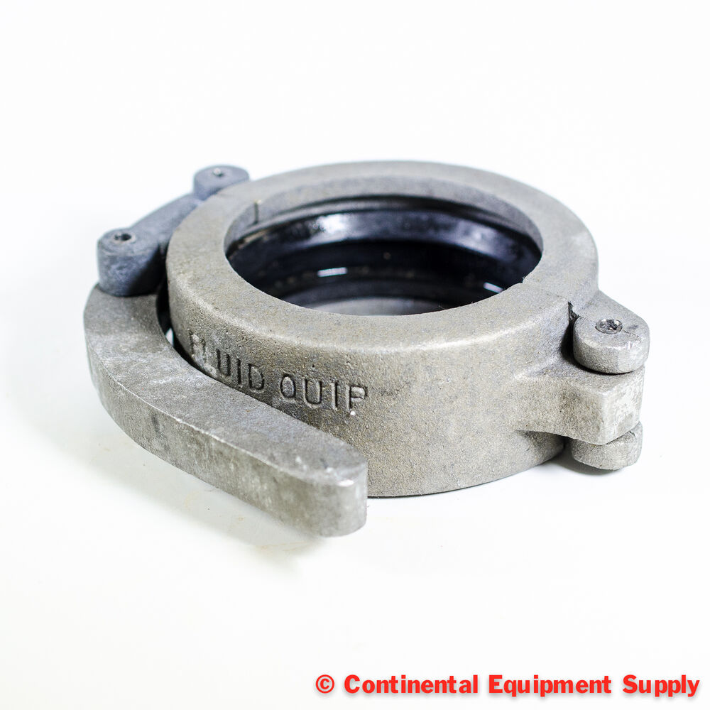 Quot fluid quip grooved pipe coupling clamp with gasket