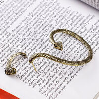 Gothic Punk Antique Brass Snake Bite Ear Cuff Wrap Earring New
