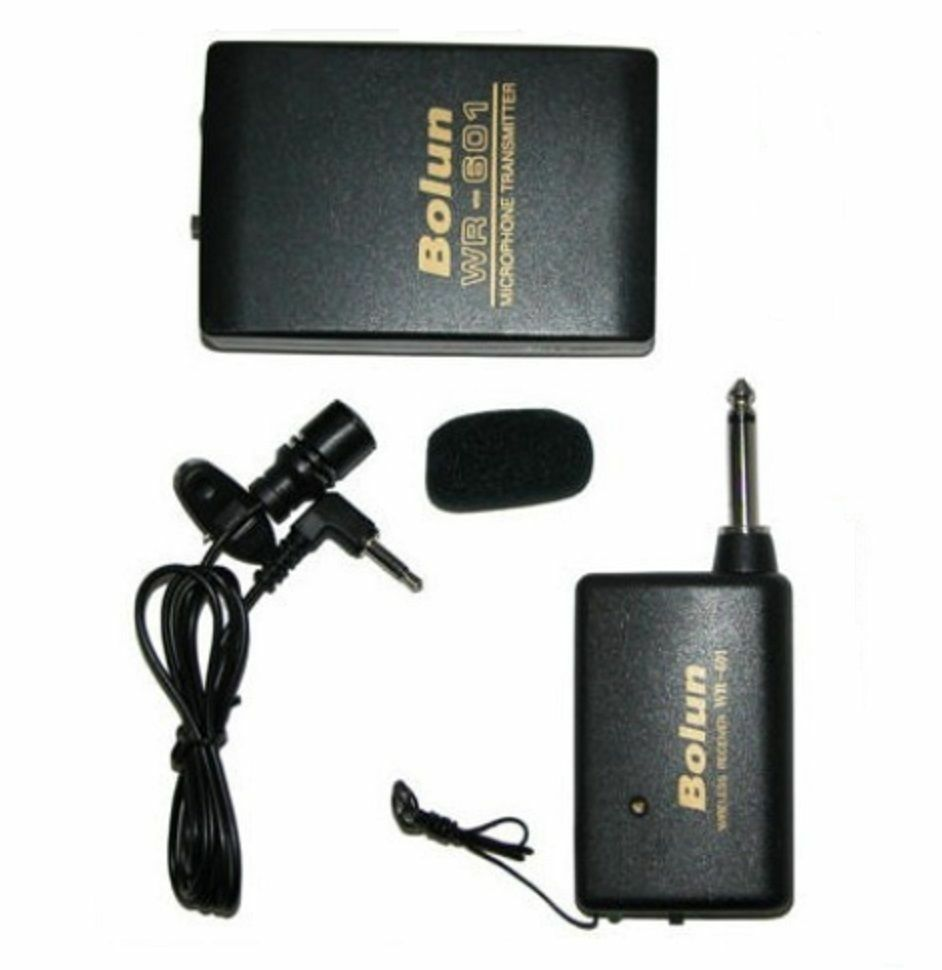 wireless headset transmitter cordless clip on lapel tie microphone mic sets ebay. Black Bedroom Furniture Sets. Home Design Ideas