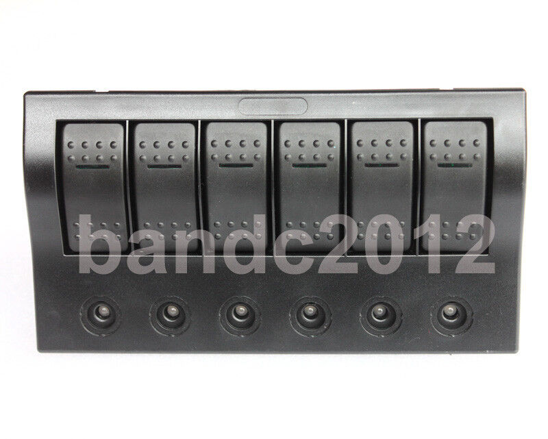 6 gang bus marine boat bridge control led rocker switch. Black Bedroom Furniture Sets. Home Design Ideas