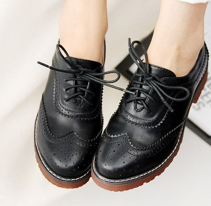 vintage womens oxford brogue wingtip lace up
