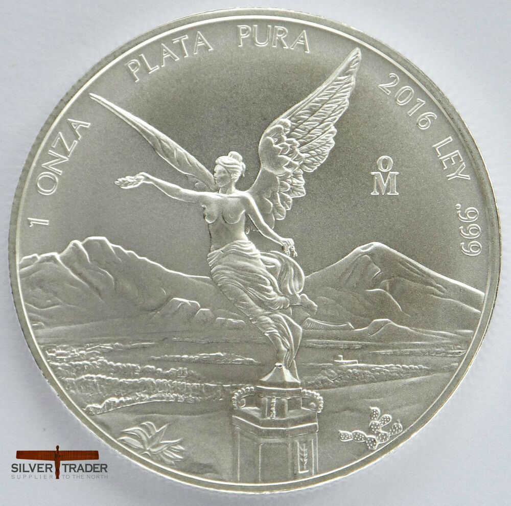 2016 mexican libertad unc 1oz troy ounce fine silver bullion coin ebay. Black Bedroom Furniture Sets. Home Design Ideas
