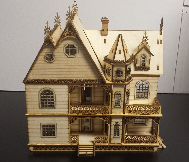 Jasmine gothic victorian dollhouse quarter 1 48 scale for Victorian kit homes