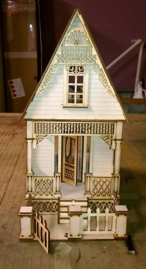 Little ann victorian cottage 1 24 scale dollhouse ebay Victorian cottages kit homes