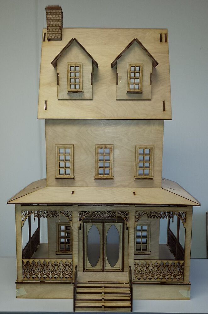 Abriana large country cottage 1 12 scale dollhouse ebay Victorian cottages kit homes
