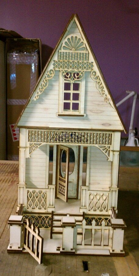 Little ann victorian cottage 1 12 scale dollhouse ebay Victorian cottages kit homes