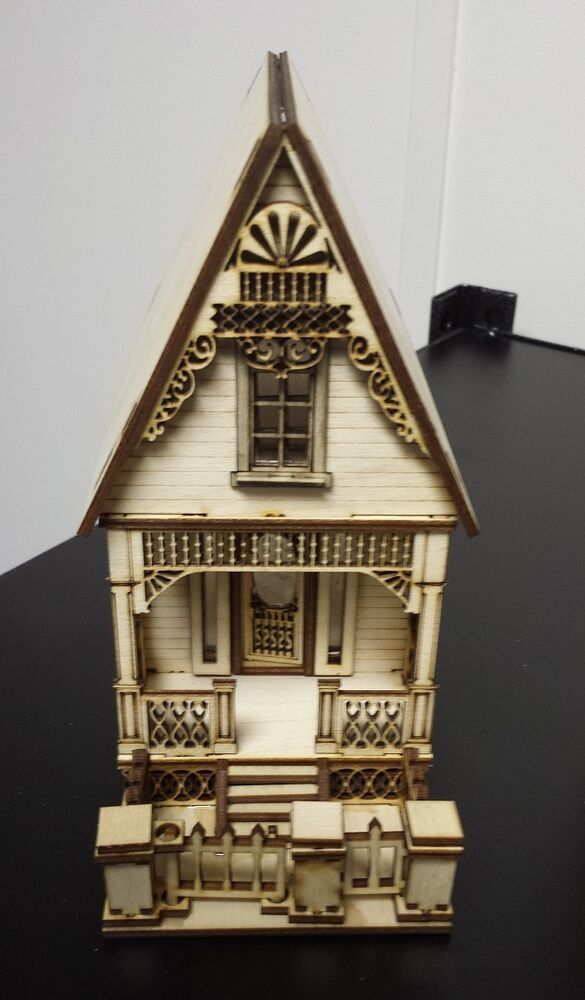 Little ann victorian cottage house 1 48 quarter scale for Victorian kit homes