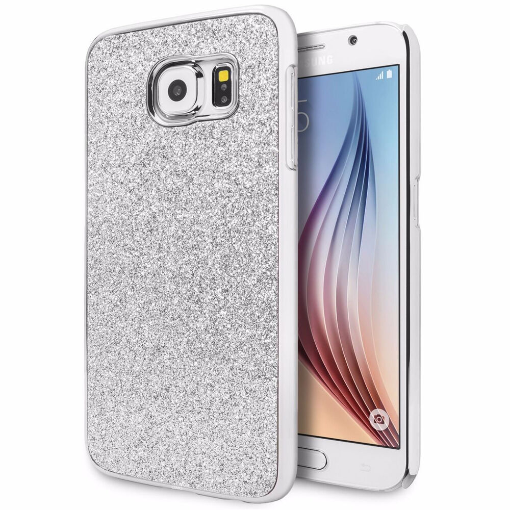 For Samsung Galaxy S6 S6 Edge Glitter Bling Transparent