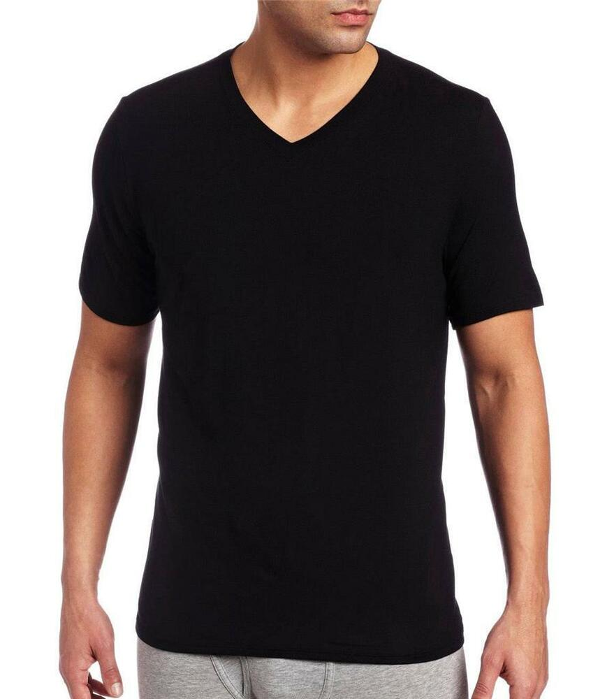New men 39 s hugo boss 3 pack premium cotton v neck shirt t V neck black t shirt