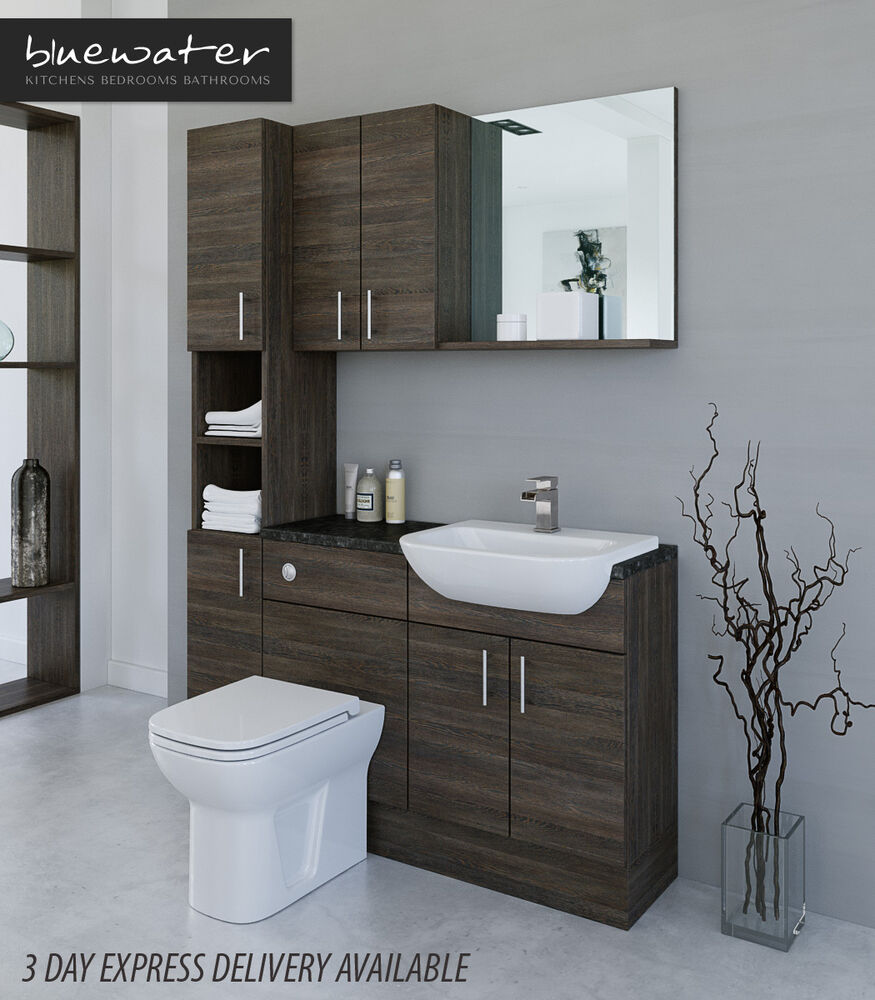 mali wenge bathroom fitted furniture 1400mm with wall. Black Bedroom Furniture Sets. Home Design Ideas