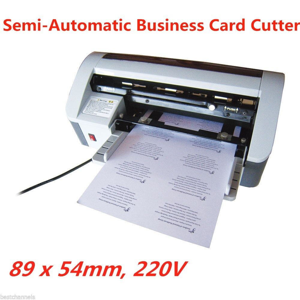 Desktop Semi Automatic Business Name ID Card Cutter