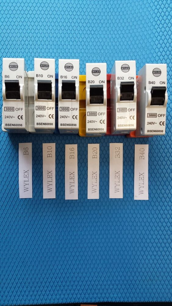 Wylex Consumer Unit B Type Standard Mcb For Old Boards