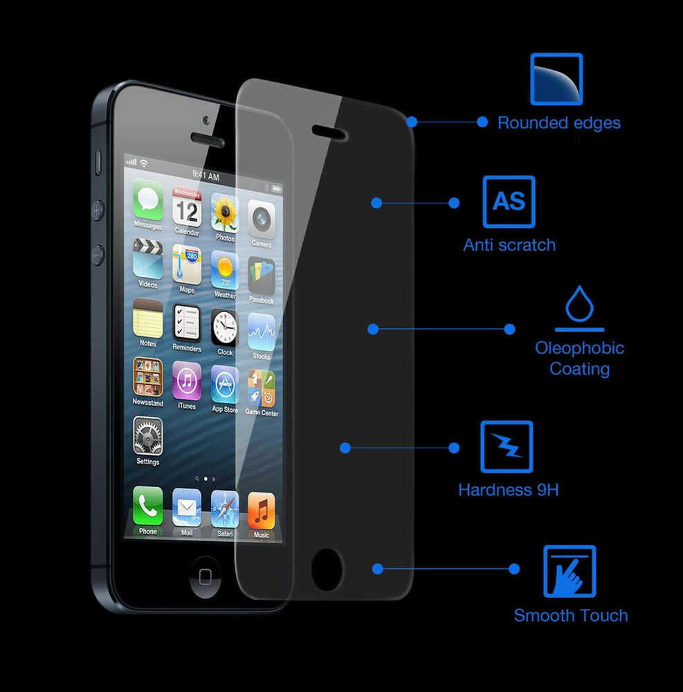 iphone 5 screen protector genuine tempered glass screen cover protector shatter 14585