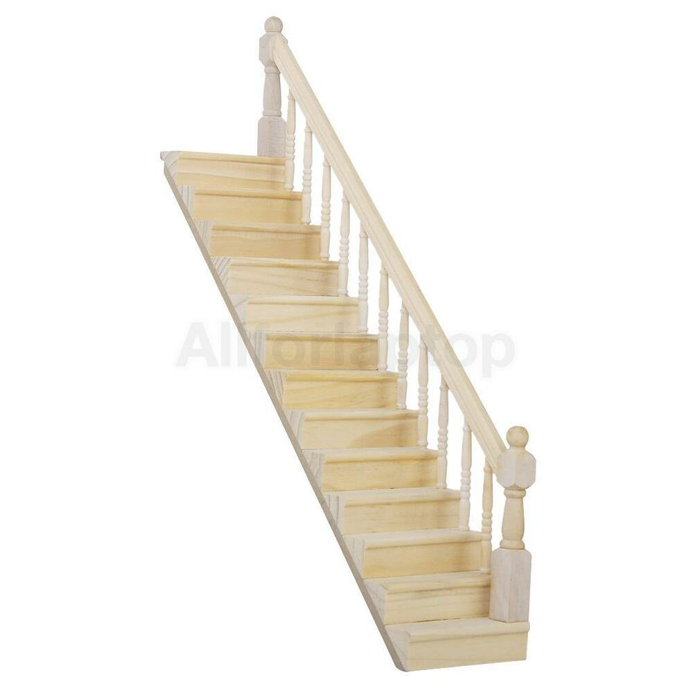 puppenhaus miniaturen treppe holz treppenstufe mit rechten. Black Bedroom Furniture Sets. Home Design Ideas