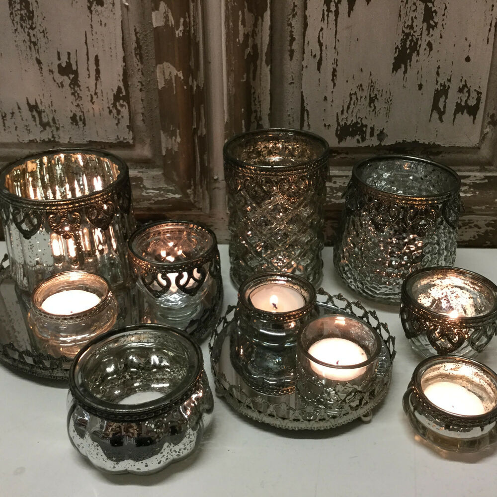 Ebay Co Uk: Chic Antique Style Glass & Metal Vintage Tea Light Candle