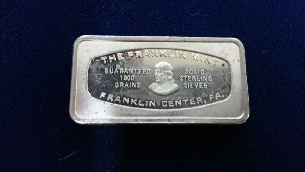 2 Ounce Bar 925 Silver Bank Bars Franklin Mint Various