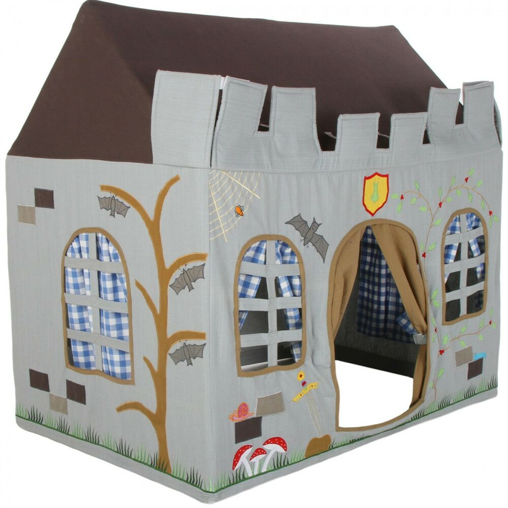 Knight 39 s castle children 39 s playhouse play tent wendy for Tent over house