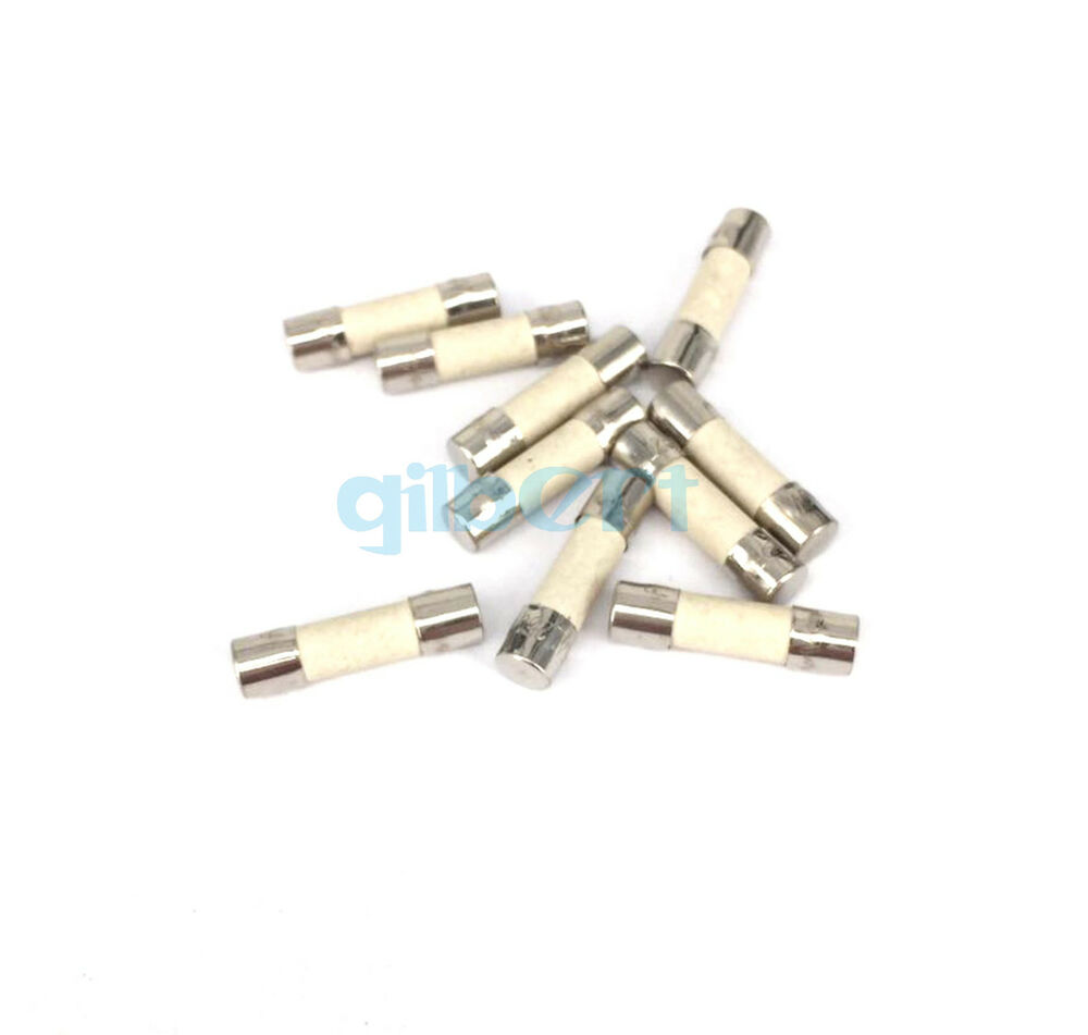 10 Pieces 250v 6 3a Slow Blow 5x20mm Ceramic Tube Fuses Ebay