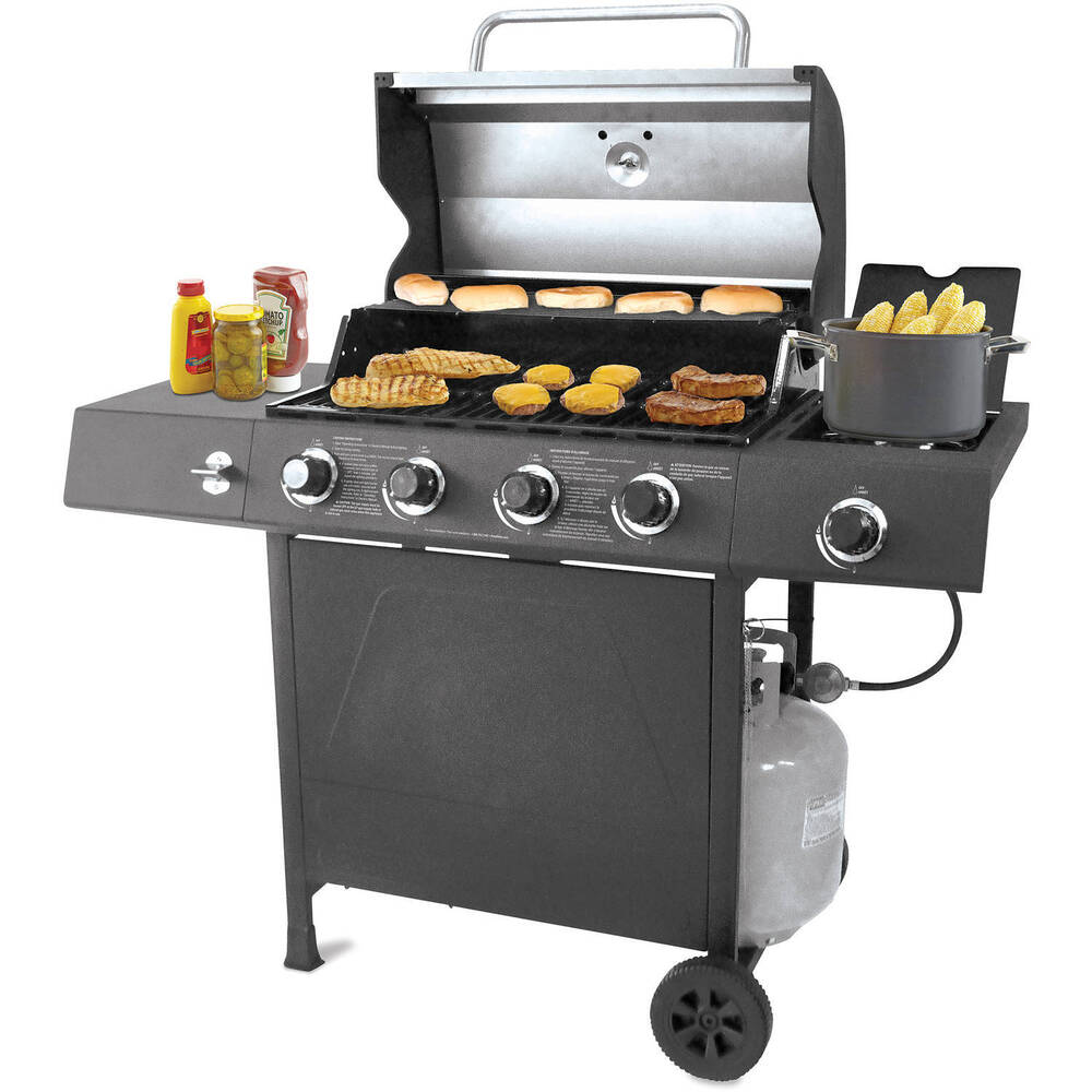 gas grill 4 burner bbq backyard patio stainless steel. Black Bedroom Furniture Sets. Home Design Ideas