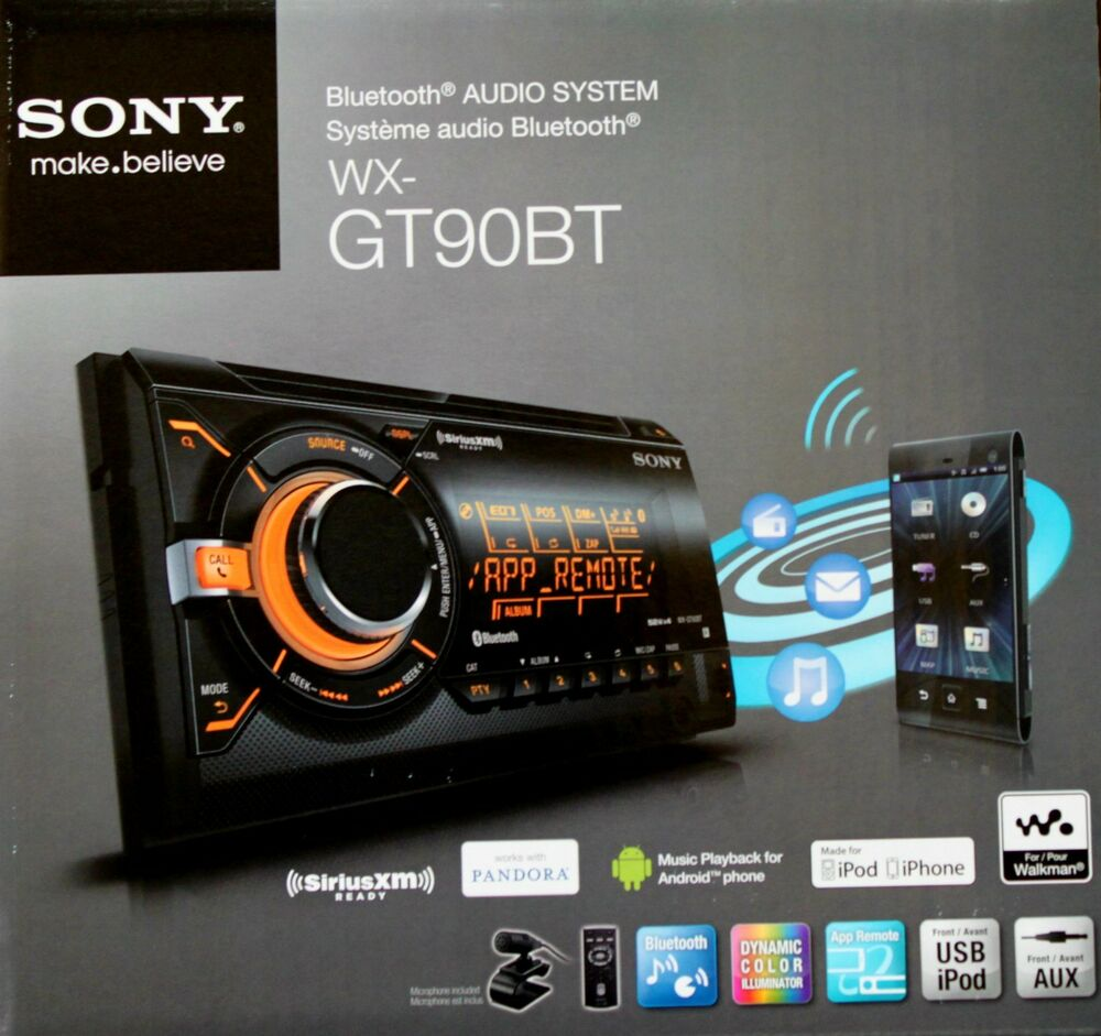 SONY WX-GT90BT 2 Din CD/USB/MP3 Car Stereo Bluetooth Audio